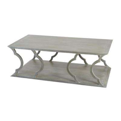 Mahogany Cloud Gray  Coffee Table
