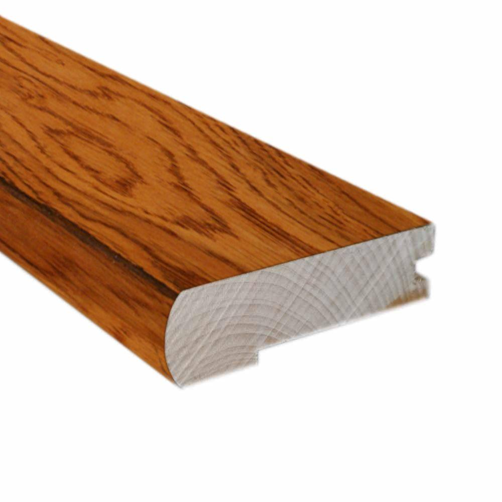 Hickory Golden Rustic 0.81 in. Thick x 2.37 in. Wide x 78 in. Length Hardwood Flush-Mount Stair Nose Molding