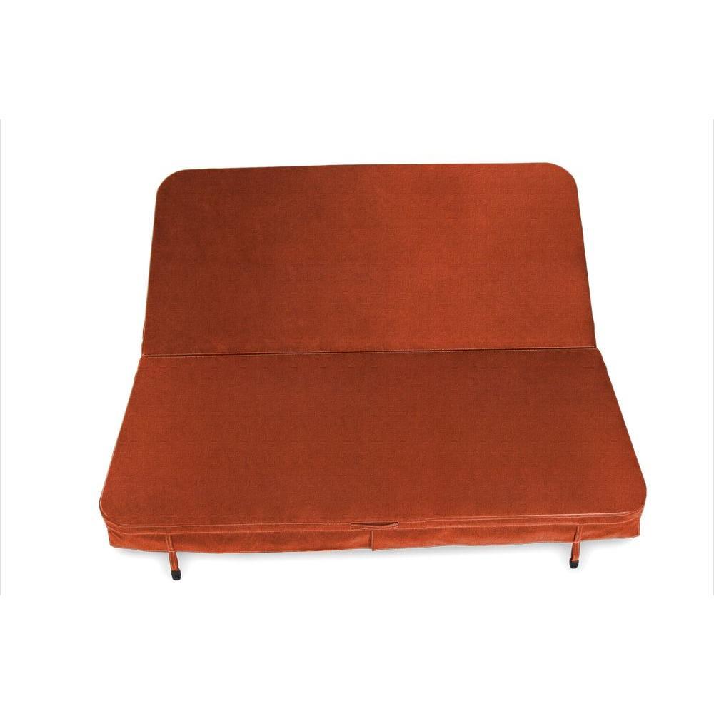 92 in. X 92 in. x 4 in. Sunbrella Spa Cover in Canvas Rust
