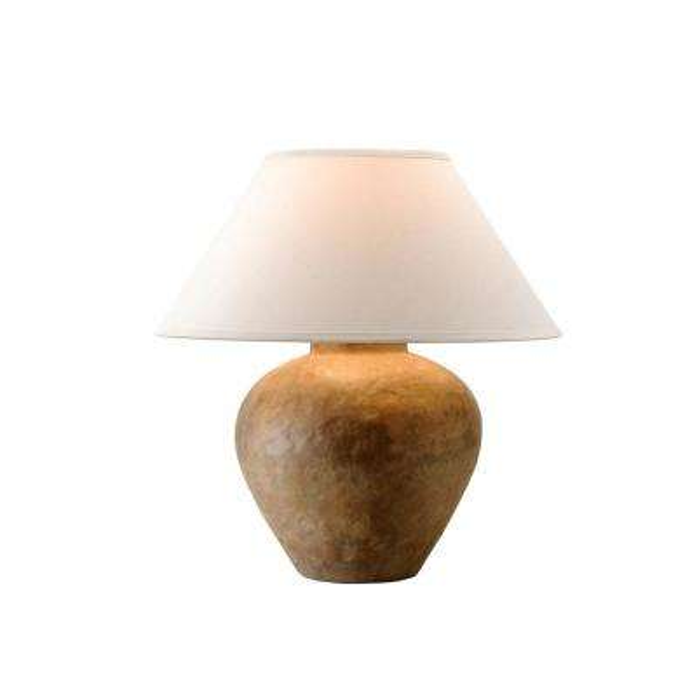 Calabria 23 in. Reggio Table Lamp with Off-White Linen Shade