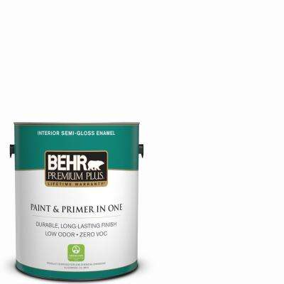 1 gal. Ultra Pure White Semi-Gloss Enamel Low Odor Interior Paint and Primer in One