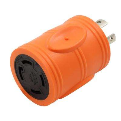 Locking Adapter 20 Amp 4-Prong L14-20P Locking Plug To L14-30R 30 Amp 4-Prong Locking Female Connector