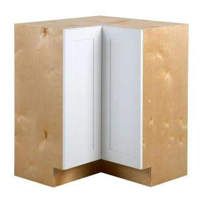Cambridge Assembled 27.6x34.5x27.6 in. Lazy Susan Corner Base Cabinet in White
