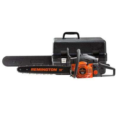 Rebel 18 in. 42cc Gas 2-Cycle Chainsaw with Heavy-Duty Carry Case and Automatic Chain Oiler