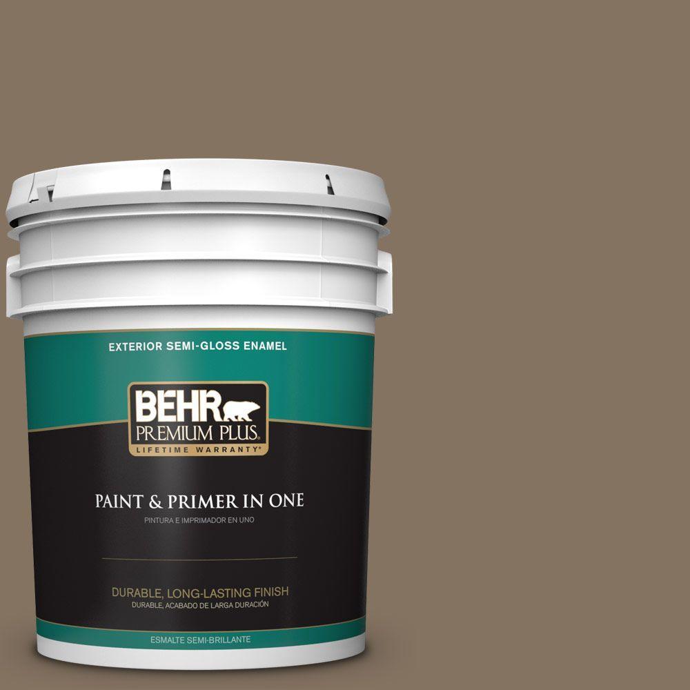 BEHR Premium Plus 5-gal. #BXC-05 Mudslide Semi-Gloss Enamel Exterior Paint