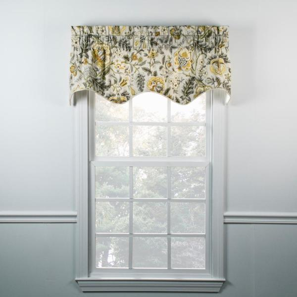 Ellis Curtain Regency 15 In L Cotton Lined Duchess Filler Valance In Grey 730462123329 The Home Depot