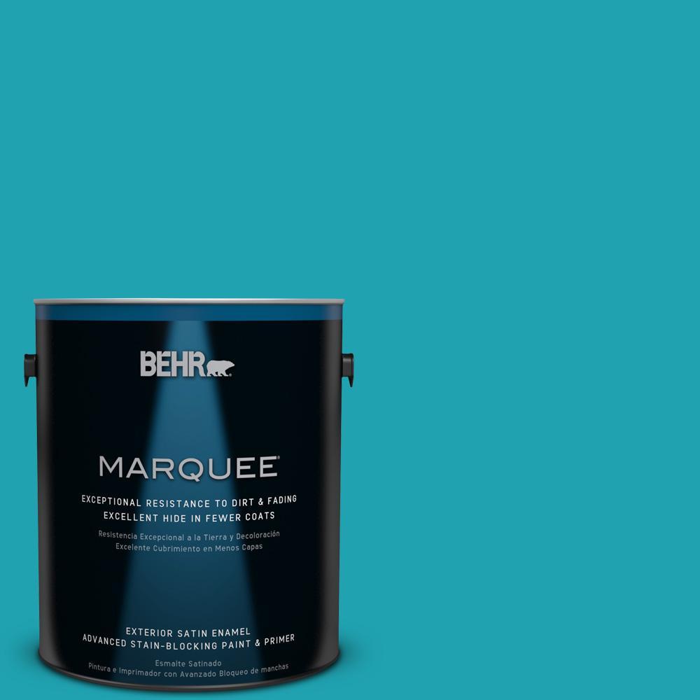 BEHR MARQUEE 1-gal. #510B-6 Blue Jewel Satin Enamel Exterior Paint