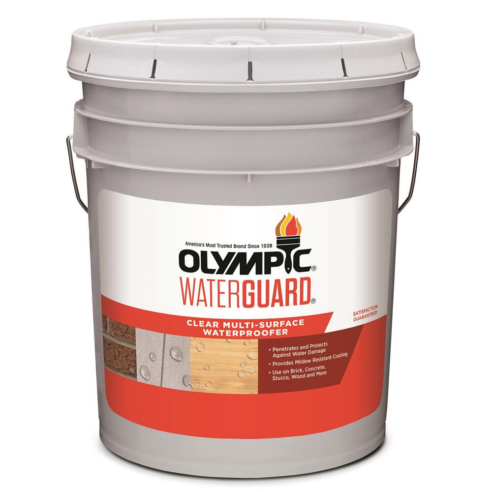 Olympic Waterguard 5 gal. Clear Multi-Surface Waterproofing Sealant