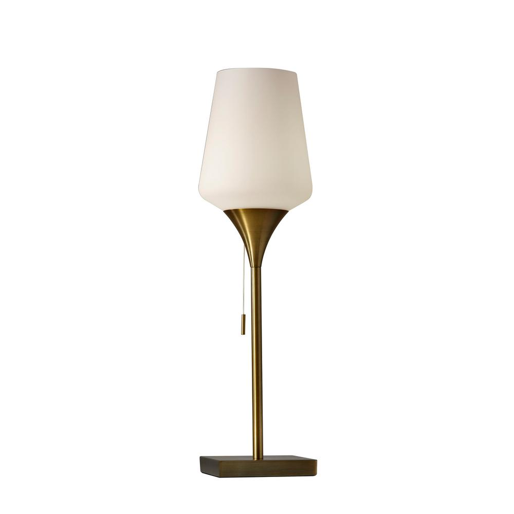 Roxy 24.5 in. Antique Brass Table Lamp