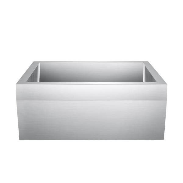 Anise Farmhouse Apron Front Stainless Steel 27 in. Single Bowl Kitchen Sink