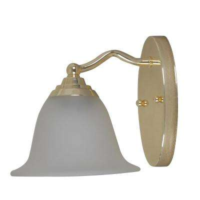 1-Light Brass Plated Sconce