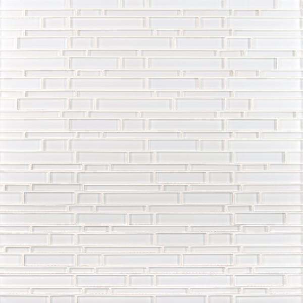 Ice Interlocking 12 in. x 12 in. x 8 mm Glass Mesh-Mounted Mosaic Tile (10 sq. ft./case)