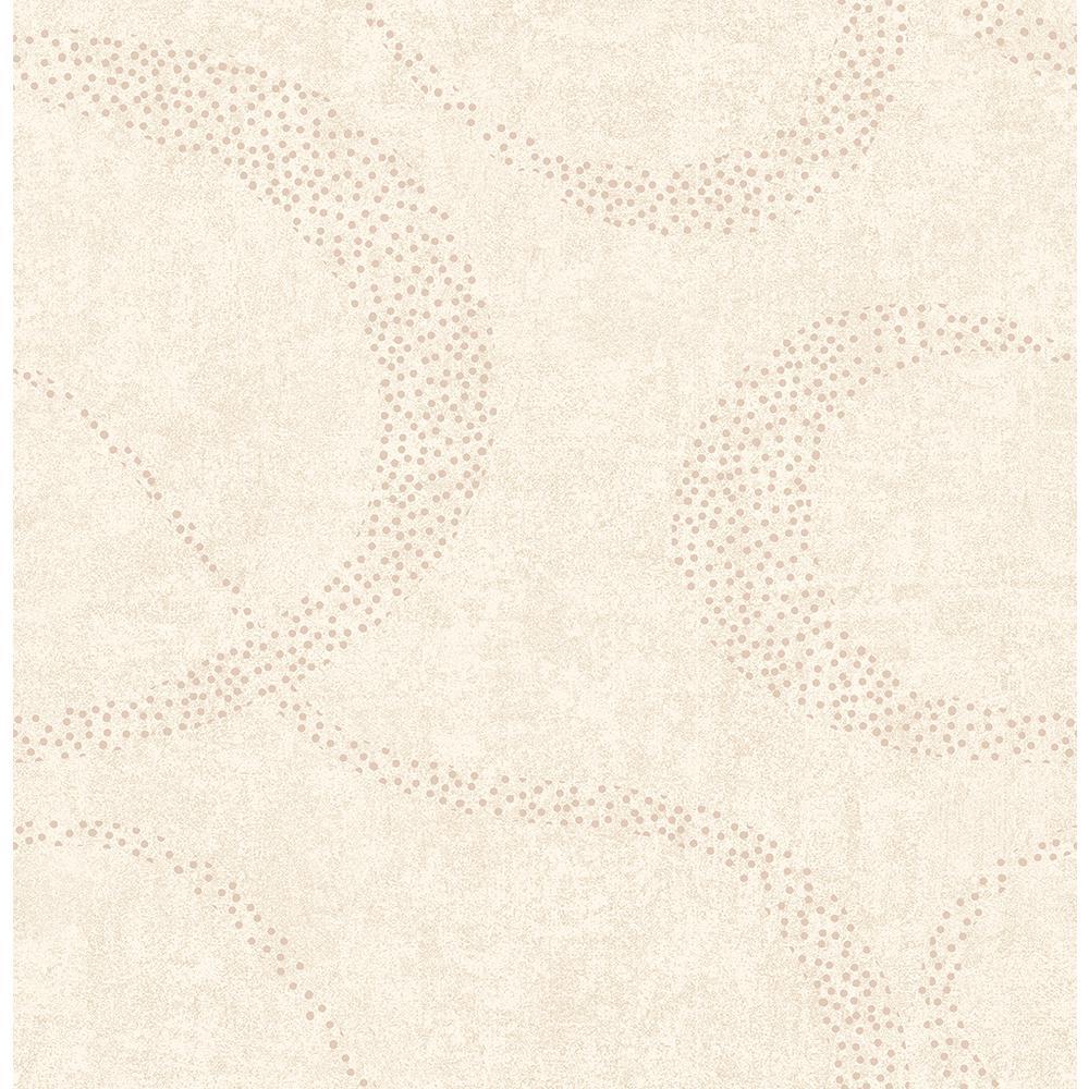 Brewster Swirl Cream Scroll Geometric Wallpaper 2662-001974