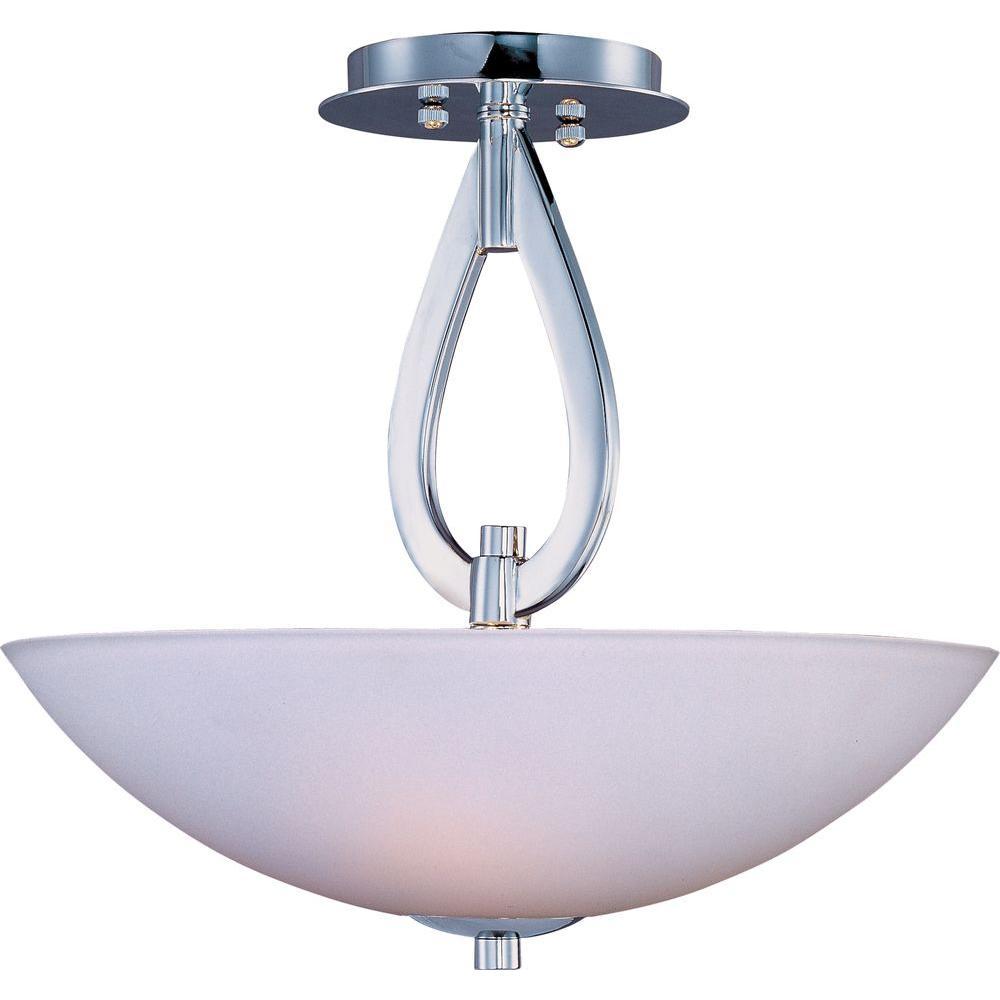 Elan 3-Light Polished Chrome Semi-Flush Mount Light