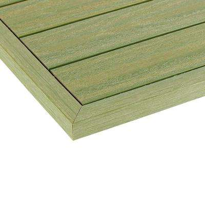 1/6 ft. x 13.95 in. Quick Deck Composite Deck Tile Outside End Corner Fascia in Irish Green (2-Pieces/box)