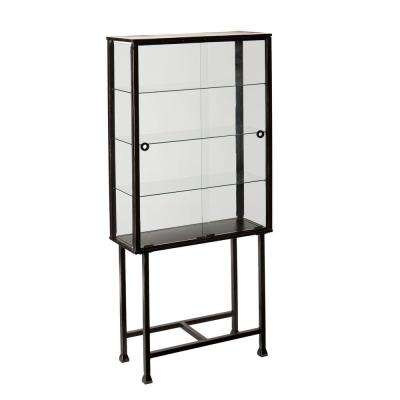 Marten Black with Silver Distressing Shelving