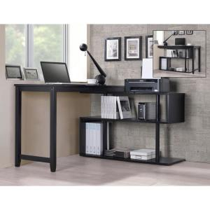 Hamburg Contemporary Virginia Black Swing Out Desk by