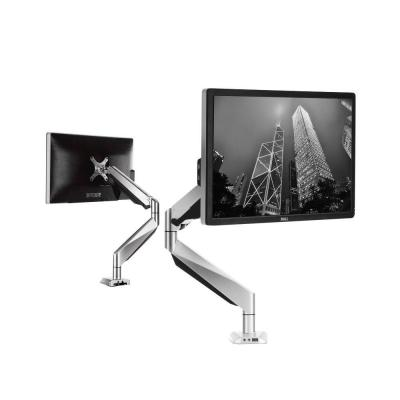 Premier Full Motion Gas Spring Single Desk Monitor Mount LCD Arm Fits 10 in. - 27 in. Monitor