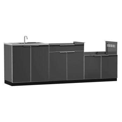 slate floor kitchens outdoor kitchen storage outdoor kitchens the home depot 2299
