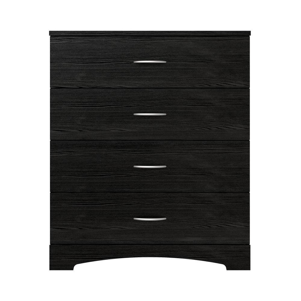 Richmond 4-Drawer Black Dresser