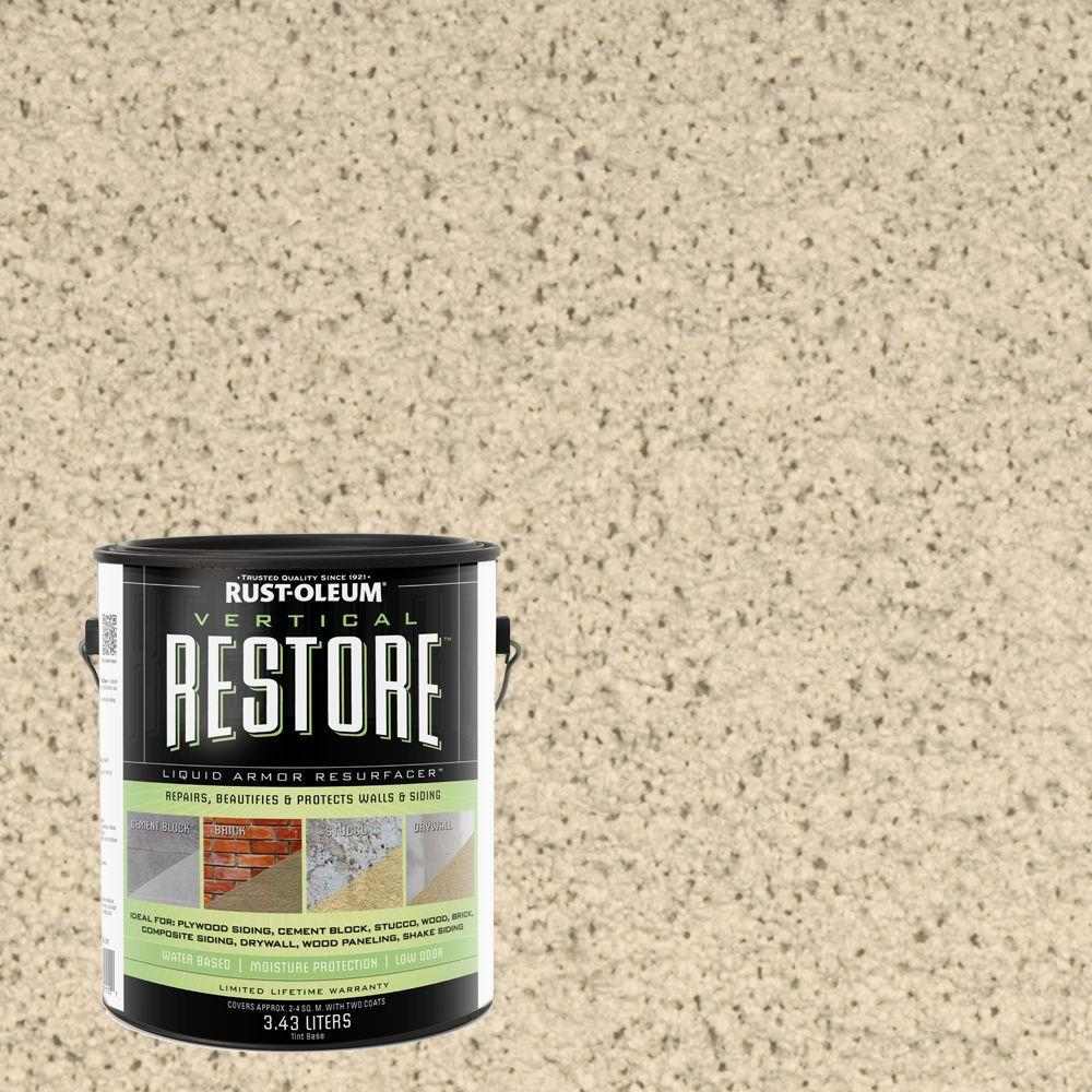 Rust-Oleum Restore 1-gal. Parchment Vertical Liquid Armor Resurfacer for Walls and Siding