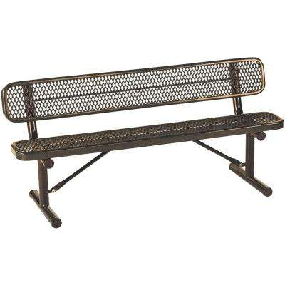 Park 6 ft. Brown Commercial Bench