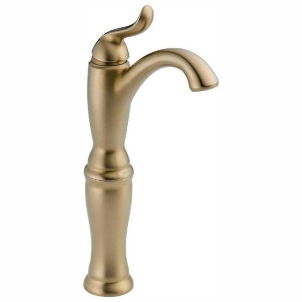 Linden Single Hole Single-Handle Vessel Bathroom Faucet in Champagne Bronze
