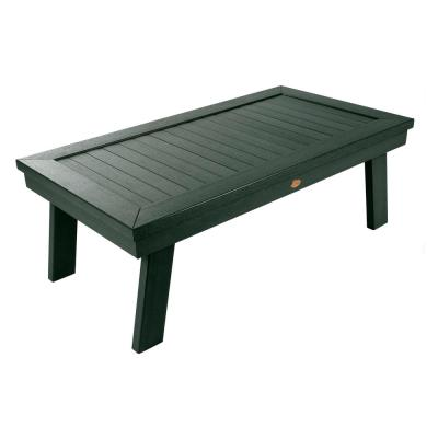 Adirondack Charleston Green Rectangular Recycled Plastic Outdoor Coffee Table