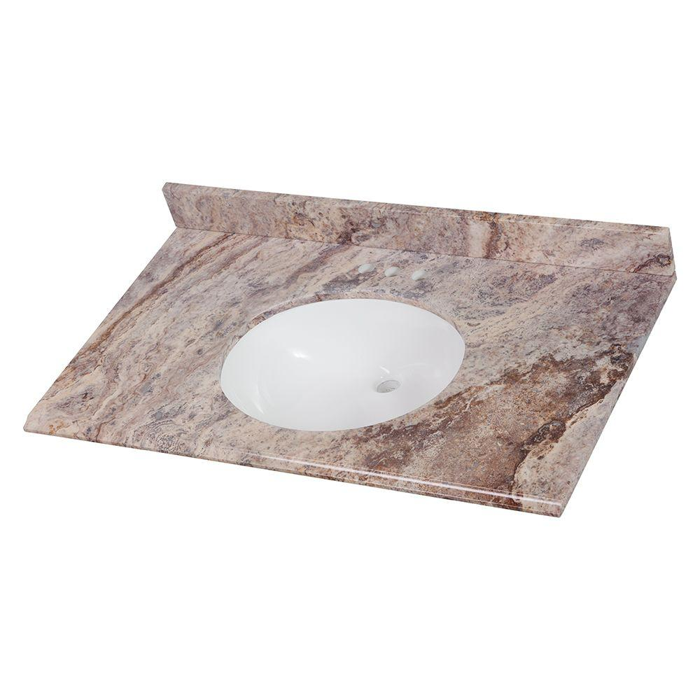 Upc 008033059545 Home Decorators Collection Bathroom 37 In Stone Effects Vanity Top In Cold