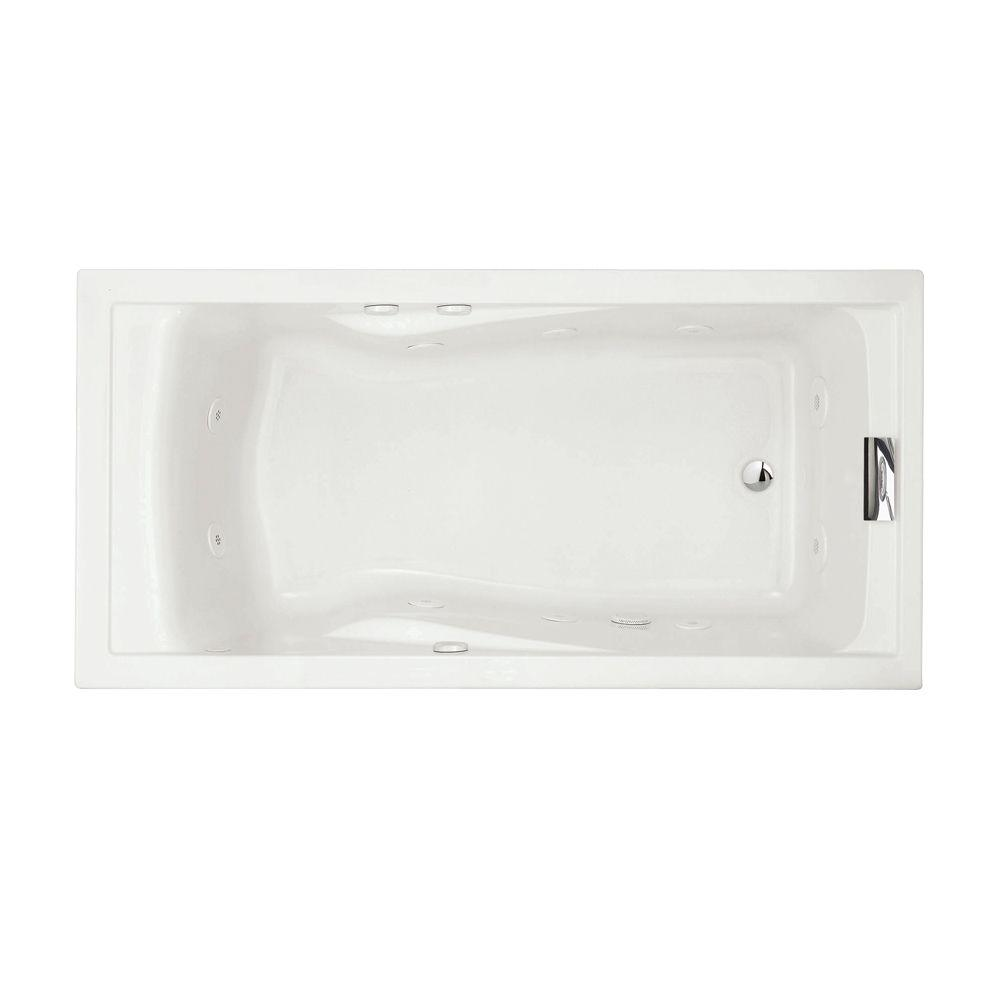 Evolution EverClean 6 ft. Whirlpool Tub in White