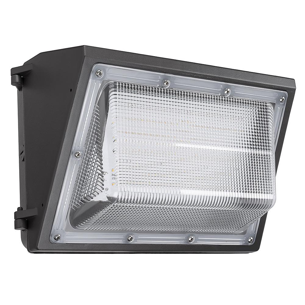 ETi 150-Watt Equivalent Integrated LED Bronze 14 in. Outdoor Wall Pack Light 5000K Daylight Photocell Compatible 3500 Lumens