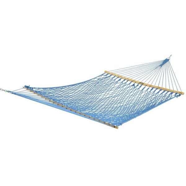 13 ft. Presidential Patio DuraCord Rope Hammock in Coastal Blue