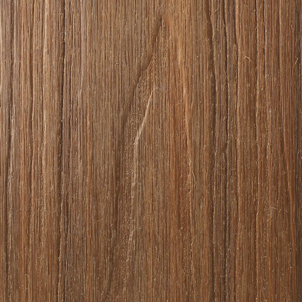 NewTechWood UltraShield Natural Magellan Series 1 in. x 6 in. x 8 ft. Peruvian Teak Grooved Composite Decking Board (10-Pack)