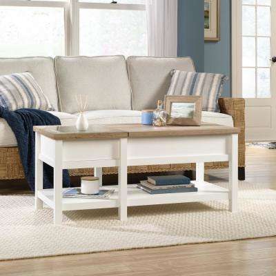 Cottage Road Soft White Lift-Top Coffee Table