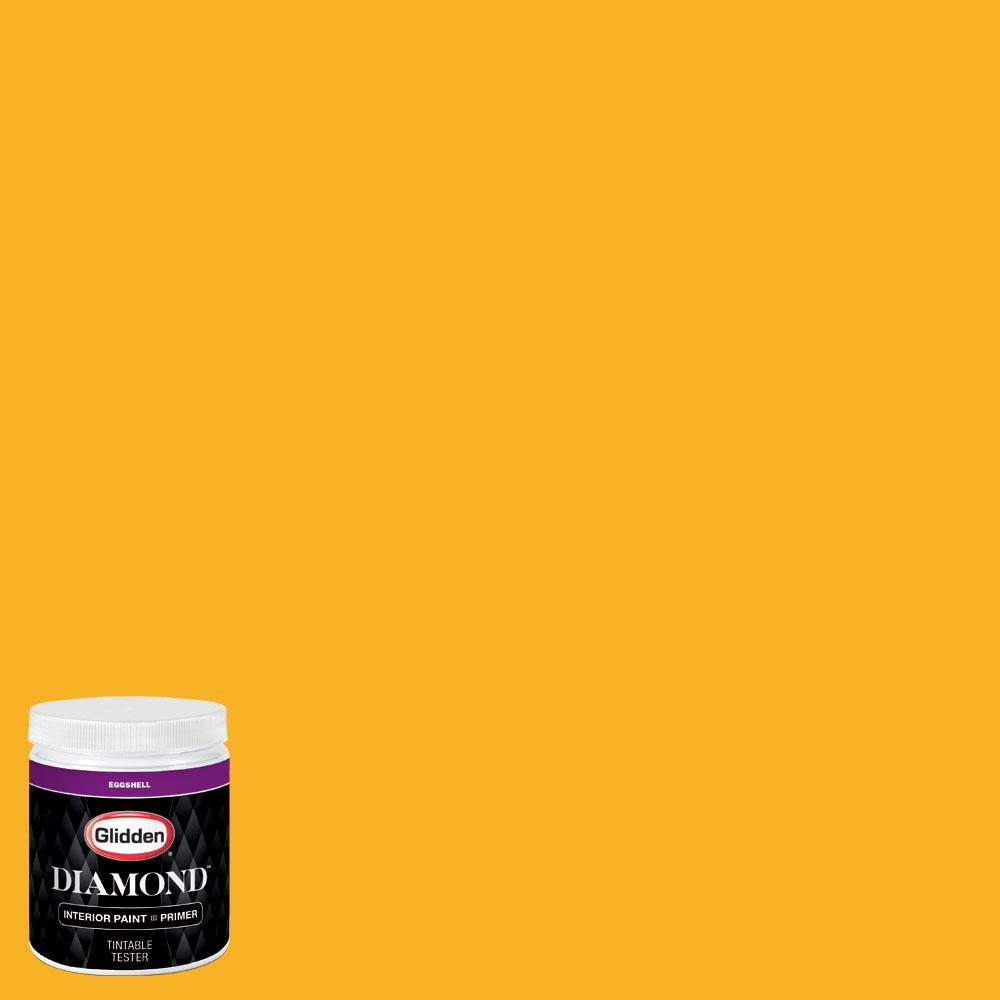 Glidden premium 8 oz nhl 015g minnesota wild yellow for Eggshell yellow paint