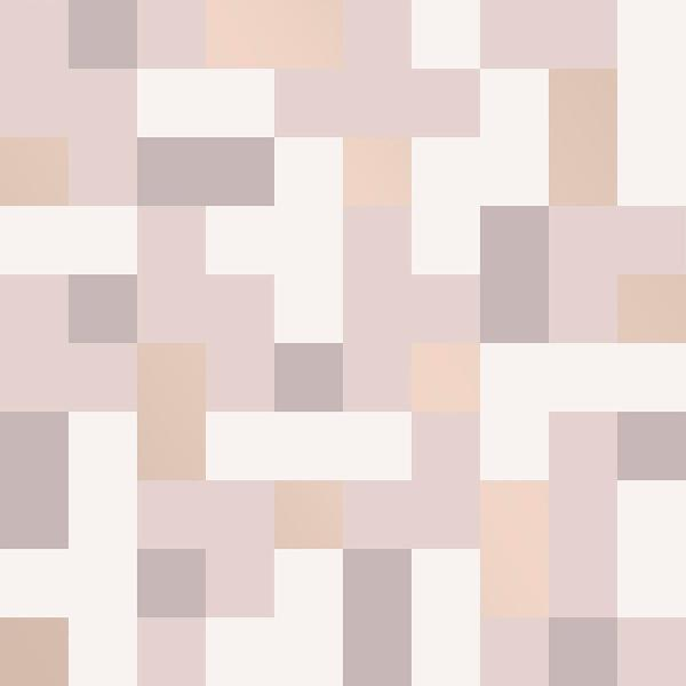A-Street 56.4 sq. ft. Alby Mauve Geometric Wallpaper 2889-25225