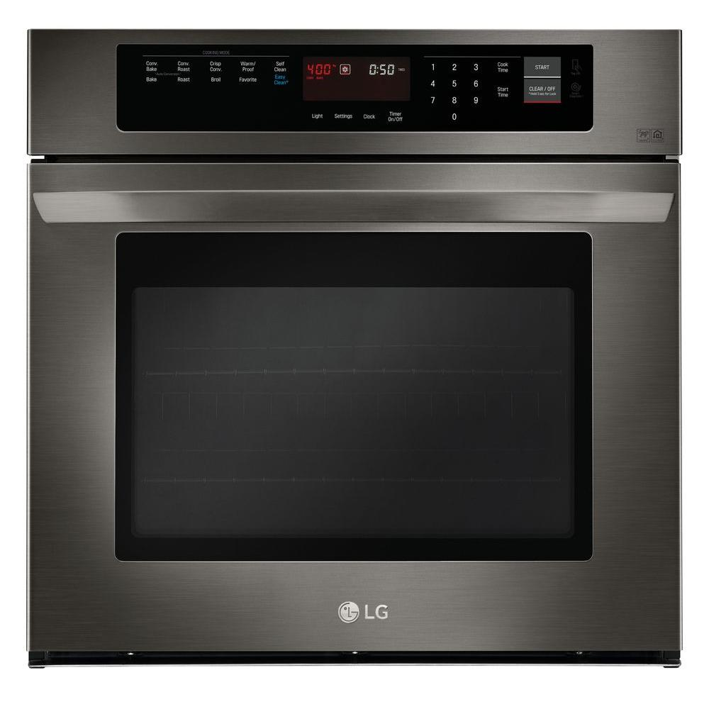 Lg Electronics 30 In Single Electric Wall Oven With Convection Black Stainless Steel