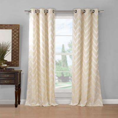 Behrakis 80 in. x 84 in. L Polyester Curtain Panel in Taupe (2-Pack)