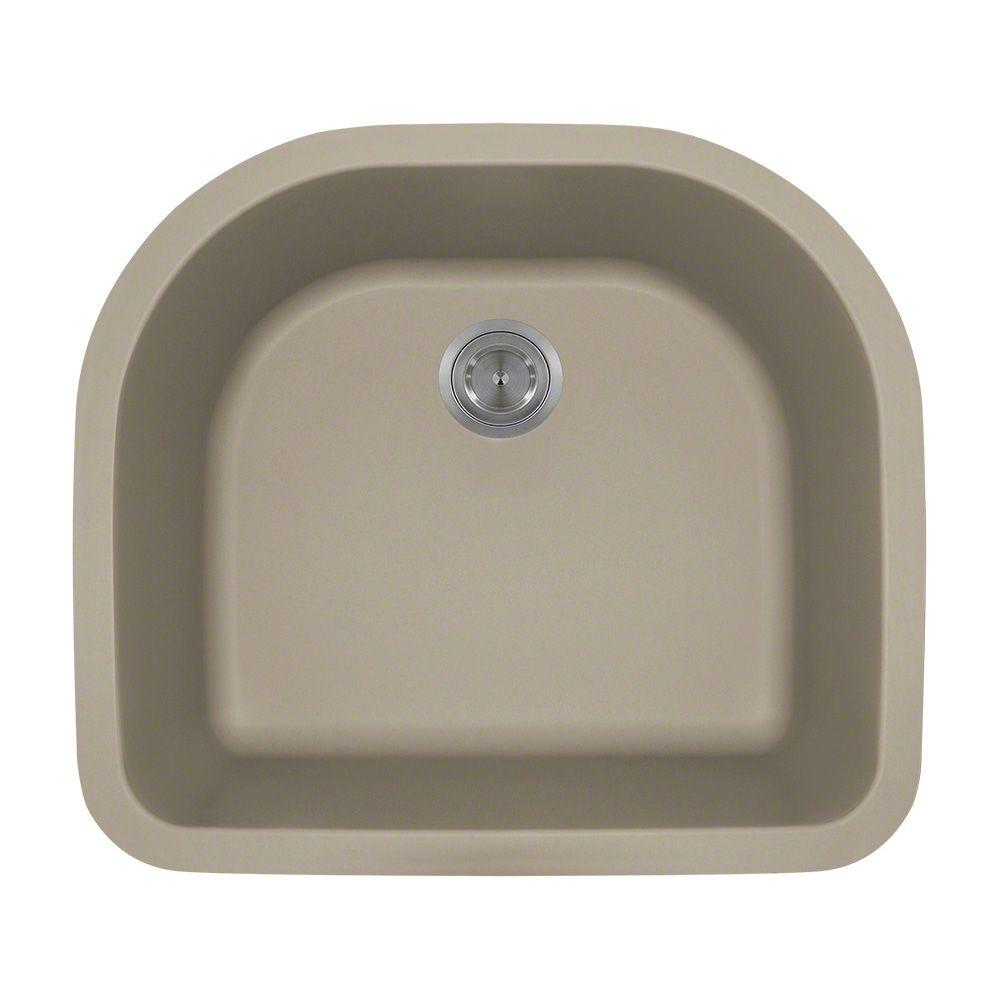 MR Direct Undermount Granite Composite 25 In. Single Bowl Kitchen Sink In  Slate 824 Slate   The Home Depot
