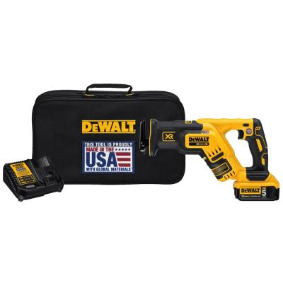 20-Volt MAX XR Lithium-Ion Cordless Brushless Compact Reciprocating Saw Kit with Battery 5Ah, Charger and Contractor Bag