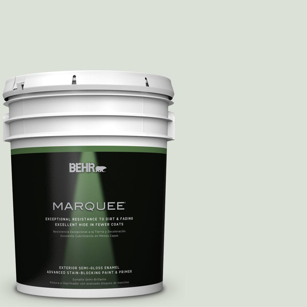 BEHR MARQUEE 5-gal. #N390-1 Light Mist Semi-Gloss Enamel Exterior Paint