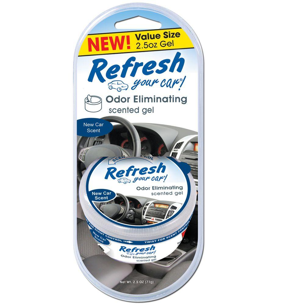 fc2cd210513 Refresh Your Car. 2.5 oz. New Car Odor Eliminating Scented Gel Can Air  Freshener