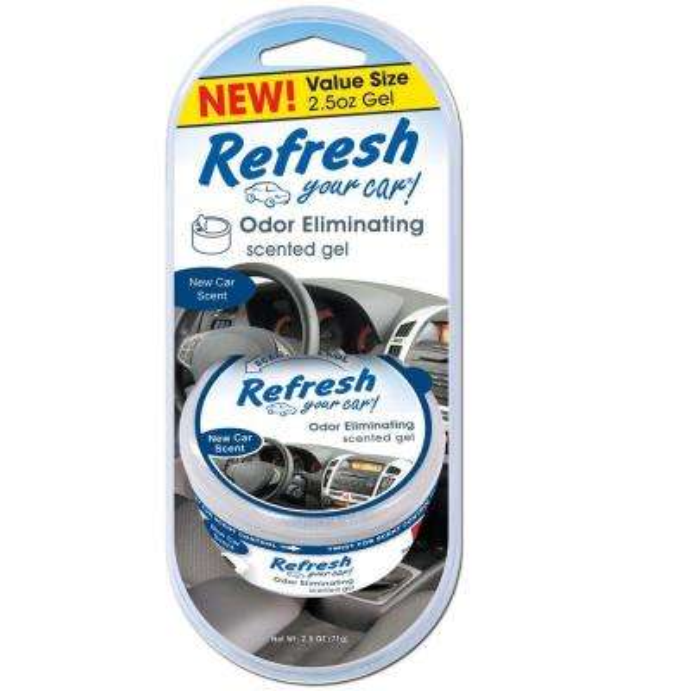 2.5 oz. New Car Odor Eliminating Scented Gel Can Air Freshener