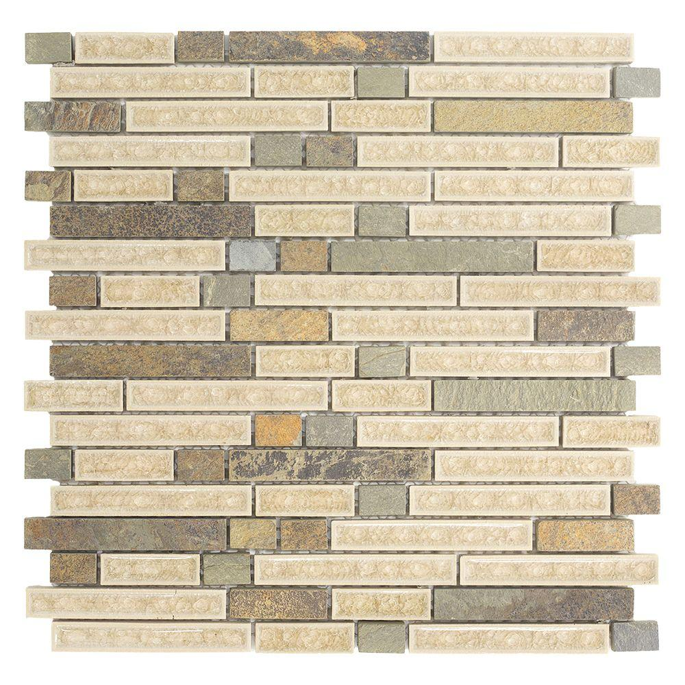 Jeffrey Court Majestic Blend 12 In. X 12 In. X 8 Mm Glass