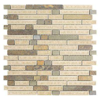 Majestic Blend 12 in. x 12 in. x 8 mm Glass and Stone Mosaic Wall Tile