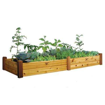 34 in. x 95 in. x 13 in. Safe Finish Raised Garden Bed