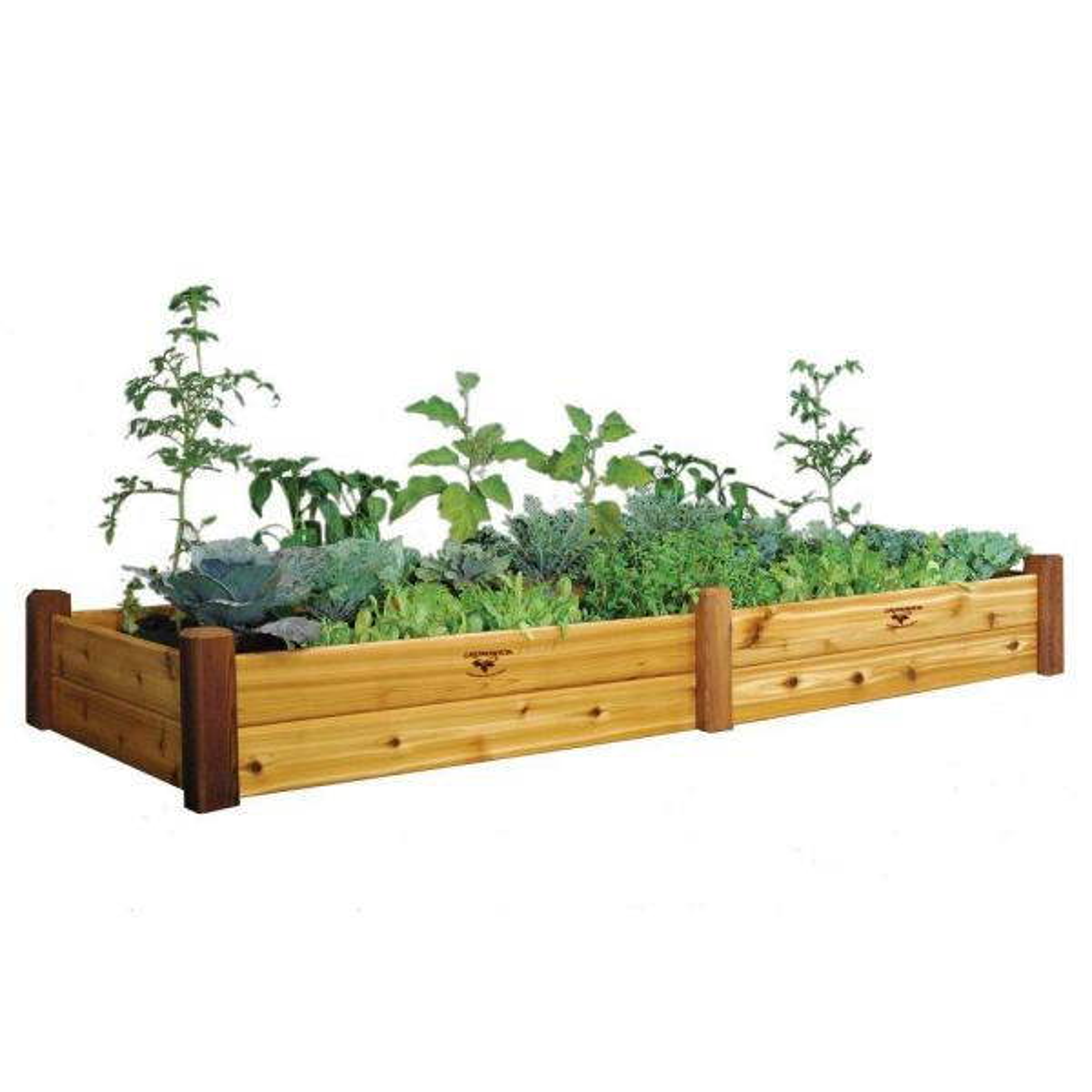 34 in. x 95 in. x 13 in. Safe Finish Raised Garden Bed