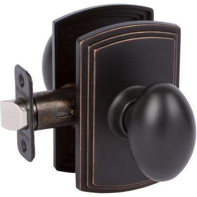 Italian Collection Canova Edged Bronze Hall and Closet Knob