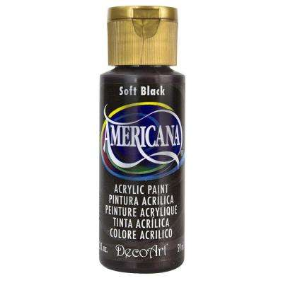 Americana 2 oz. Soft Black Acrylic Paint