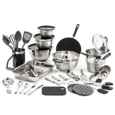 "58-Piece ""Kitchen in a Box"" Stainless Steel Cookware Set"